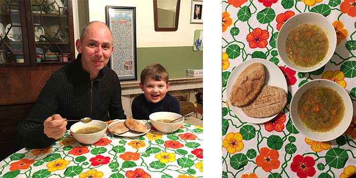 my son, me and my soup recipe